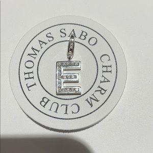 "Thomas Sabo letter ""E"" charm"
